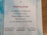 Malwina Osak za wybitne osiągnięcia sportowe_1